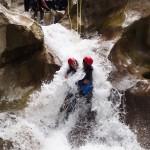 Toboggan des amoureux en canyoning près de Castellane et des Gorges du Verdon dans la clue de Saint-Auban
