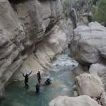 L'équipe prête pour le canyoning initiation de la clue de la Cerise près de Nice
