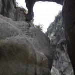 Formation géologique étonnante en canyoning initiation de la clue de la Cerise près de Nice