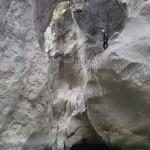 Près pour un saut haut facultatif en canyoning initiation de la clue de la Cerise près de Nice
