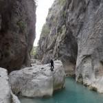 Contemplation en canyoning initiation de la clue de la Cerise près de Nice