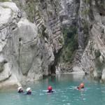 Nage en canyoning initiation de la clue de la Cerise près de Nice