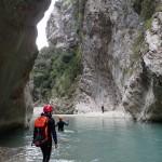 Marche en canyoning initiation de la clue de la Cerise près de Nice