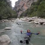 Flotting tranquille en canyoning initiation de la clue de la Cerise près de Nice