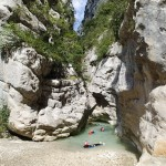 Picnic en canyoning dans la clue du Riolan près de Nice et des Gorges du Verdon