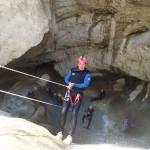 Rappel en canyoning dans la clue du Riolan près de Nice et des Gorges du Verdon