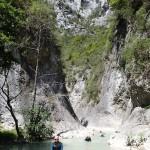 Paysage en canyoning dans la clue du Riolan près de Nice et des Gorges du Verdon