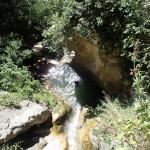 Rappel en canyoning initiation près de Grasse et Cannes dans les Gorges du Loup
