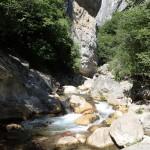 Paysage en canyoning initiation près de Grasse et Cannes dans les Gorges du Loup