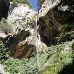 Cascade en canyoning initiation près de Grasse et Cannes dans les Gorges du Loup