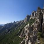 Paysage des aiguilles de Bavella en Corse