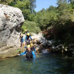 Marche en canyoning vers Nice dans le Gours du Ray