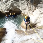 Rappel en canyoning vers Nice dans le Gours du Ray