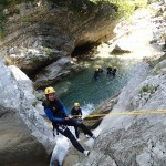 Rappel en canyoning vers Nice dans le Gours du Ray