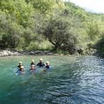 Baignade en canyoning vers Nice dans le Gours du Ray