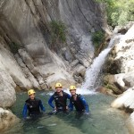 Cascade en canyoning vers Nice dans le Gours du Ray