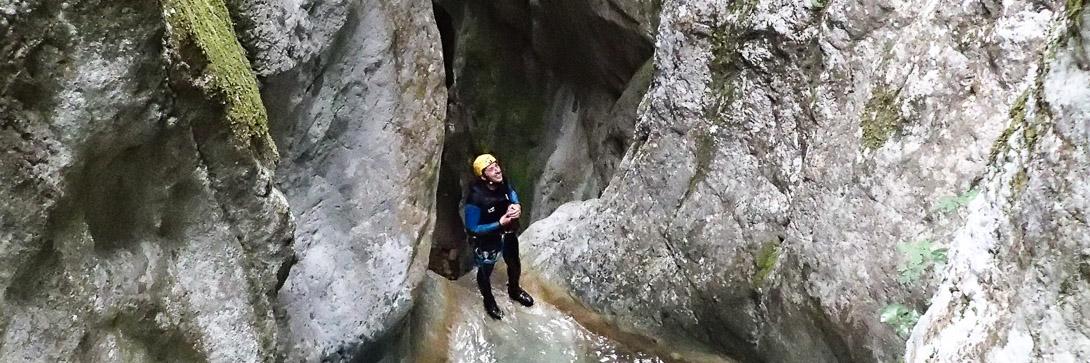 Canyoning Imberguet dans la Vésubie près d'Antibes et Cagnes