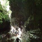 Tout près de la Côte d'Azur nous retrouvons un paysage tropical en canyoning dans la Maglia