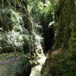 Etroiture de canyoning à l'approche du pont de Pierrefeu près de Cagnes et Nice