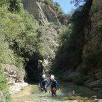Marche en canyoning dans Audin près de Monaco et Menton dans la vallée de la Roya