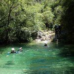 Nage en canyoning dans Audin près de Monaco et Menton dans la vallée de la Roya