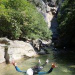 Nage en canyoning près de Cannes dans le Loup