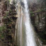 Cascade de 25m en canyoning dans le moulin de Roubion près d'Isola 2000