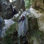 Grande cascade dans Planfaé en canyoning près de Monaco et Nice