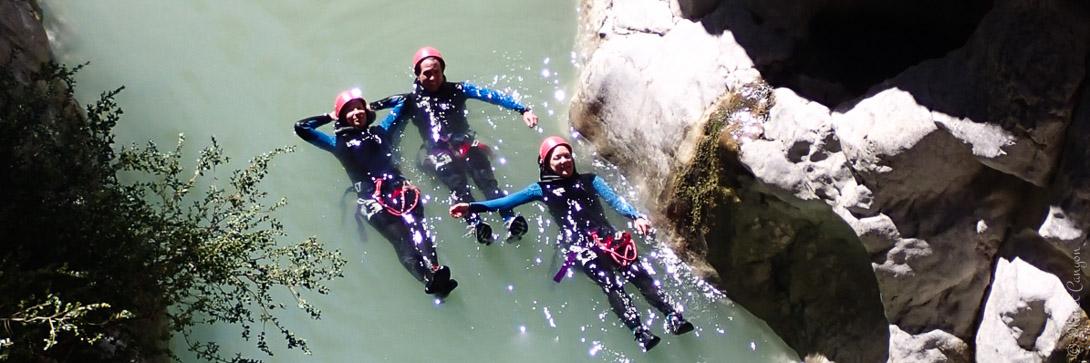 Canyoning dans le Haut Jabron près de Grasse et Castellane
