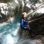 Descente en rappel dans la Maglia en canyoning près de Nice
