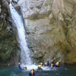 L'équipe en canyoning dans Cramassouri