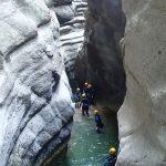 Etroiture en canyoning dans Cramassouri
