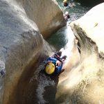 Toboggan en canyoning proche de Nice dans Cramassouri
