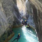 Tout près de Nice on peut se baigner dans une eau turquoise en faisant du canyoning dans la Maglia