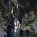 L'étroiture finale de la clue de la Maglia offre un paysage comme seul le canyoning le permet, tout ça tout près de Nice