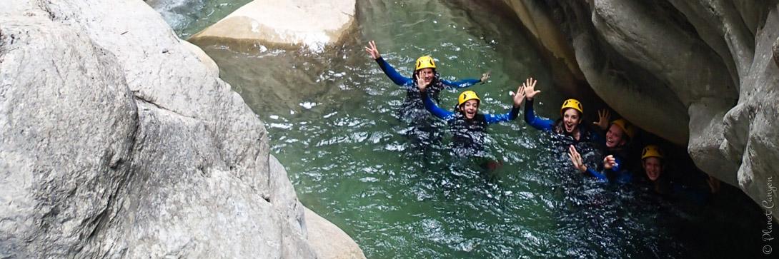 Canyoning près de Nice dans le canyon de Cramassouri