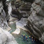 Plaisir en canyoning dans Cramassouri près de Nice