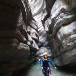 Magnifique étroiture en canyoning tout près de Nice dans Cramassouri