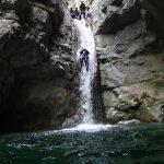 Grand toboggan en canyoning vers Nice dans Cramassouri
