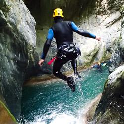 Canyoning dans la Maglia près de Menton
