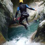Canyoning près de Nice et saut dans la Maglia