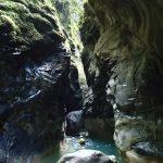 Nage en canyoning au milieu d'un paysage tropical pourtant tout proche de Nice