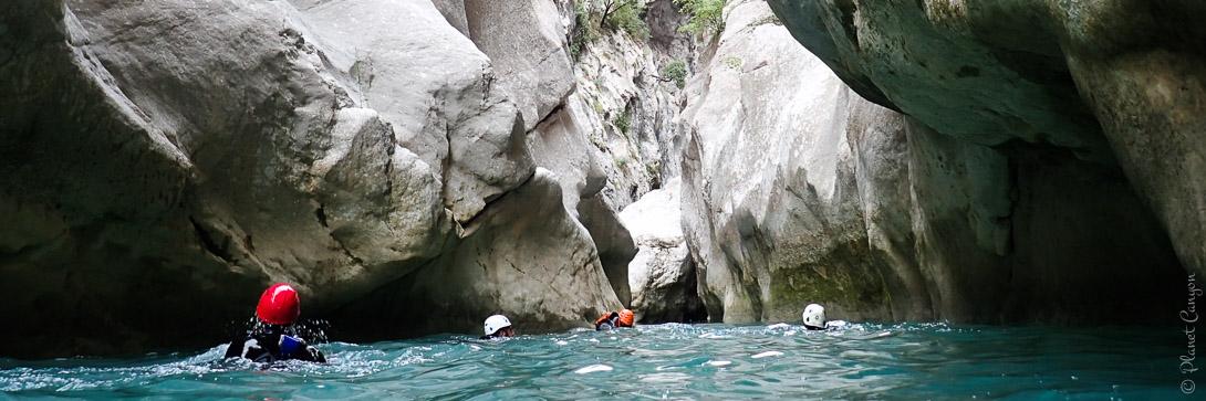 Canyoning et randonnée aquatique dans la clue de la Cerise près de Nice