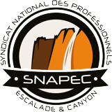 Logo Guide Canyoning et Escalade SNAPEC